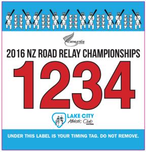 NZ Road Relay Championship Baton logo